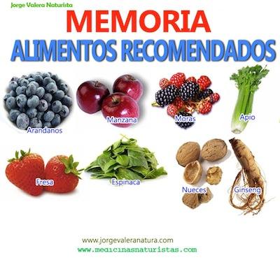 Alimentos para la Concentracion y la Memoria