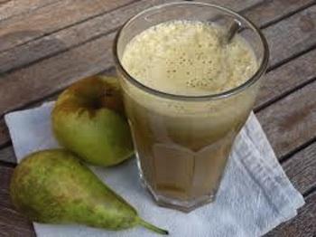 Batido verde de manzana y pera para perder peso