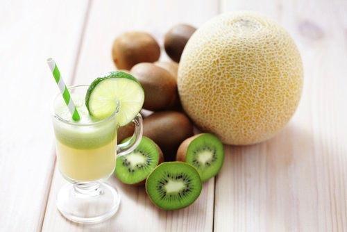 licuado de melon y kiwi para adelgazar